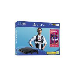 Igraća konzola SONY PlayStation 4 Slim, 1000GB, F Chassis, FIFA 19, 14 Days PS Plus + Marvel's Spiderman Standard Edition