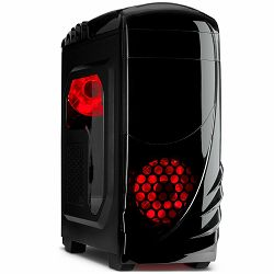 Kućište Chassis INTER-TECH K-2 GTS Black Midi Tower, ATX, 1xUSB2.0, 1xUSB3.0, Card Reader, HD-audio, PSU optional