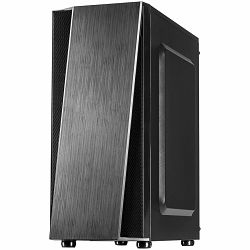 Chassis INTER-TECH T-11 Televen Gaming Midi Tower, ATX, 1xUSB3.0, 2xUSB2.0, HD audio, PSU optional, Window side panel, space for water cooling