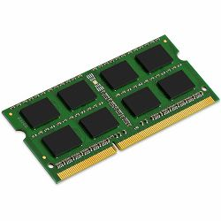 Memorija Kingston System Specific RAM 8GB 1333MHz SODIMM - Standard 1G X 64 Non-ECC 1333MHz 204-pin Unbuffered SODIMM 2RX8 (DDR3, 1.5V, CL9, 4Gbit, FBGA, Gold)