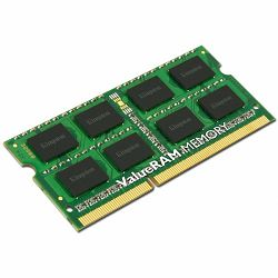 Memorija Kingston System Specific RAM 8GB 1600MHz SODIMM - Standard 1G X 64 Non-ECC 1600MHz 204-pin Unbuffered SODIMM 2RX8 (DDR3, 1.5V, CL11, 4Gbit, FBGA, Gold)