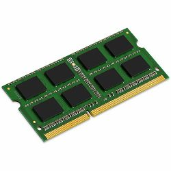 Memorija Kingston System Specific RAM 4GB 1600MHz Low Voltage SODIMM - Standard 512M X 64 Non-ECC 1600MHz 204-pin Unbuffered SODIMM 1RX8 (DDR3L, 1.35V, CL11, 4Gbit, FBGA, Gold)