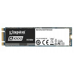 Kingston A1000 NVMe 480GB,R1500/W900, M.2 2280