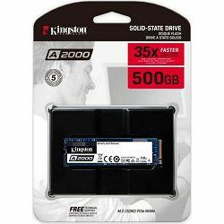 SSD Kingston A2000 NVMe 500GB,R2200/W2000, M.2 2280