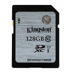 Kingston SDHC UHS-I Class 10 Flash Card, 128GB
