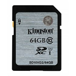 Kingston SDHC UHS-I Class 10 Flash Card, 64GB