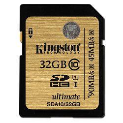 Kingston SDA10 U1, R90MB/W45MB, 32GB