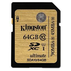 Kingston SDA10 Ultimate U1, Class 10, 64GB