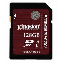 Kingston SDXC, UHS-I, U3, R90/W80, 128GB