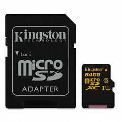Kingston microSDXC, Class10, U1, 64GB