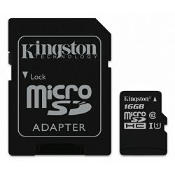 Memorijska kartica Kingston microSDXC, Canvas, Class10, 16GB