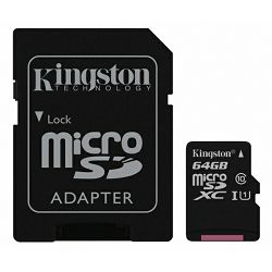 Kingston microSDXC, Canvas, Class10, 64GB