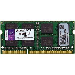 Memorija Kingston DDR3 SODIMM,1600MHz, 8GB