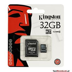 KINGSTON 32GB microSDHC Class 10 UHS-I 45R Flash Card Single Pack w/o Adapter