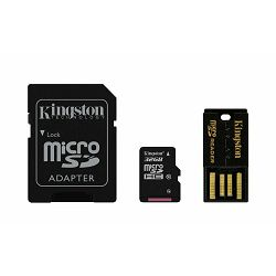 Kingston Multi-Kit / Mobility Kit - Flash memory card ( microSDHC to SD adapter included ) - 32 GB - Class 10 - microSDHC - with USB Reader