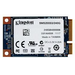 Kingston SSD S200, mSATA, R550/W520, 240GB
