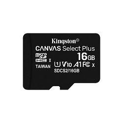 KINGSTON 16GB micSDHC Canvas Select Plus 100R A1 C