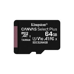 Memorijska kartica KINGSTON 64GB micSDXC Canvas Select Plus 100R A1 C