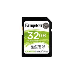KINGSTON 32GB SDHC Canvas Select Plus 100R C10 UHS