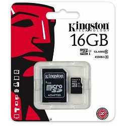 Memorijska kartica Kingston MicroSDHC CL10 16GB