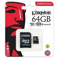 Memorijska kartica Kingston MicroSDXC Class10 64GB