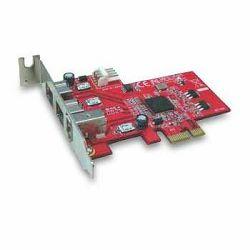 Kontroler Lycom PCIe x1 na FireWire 1394b & 1394a combo 3 po