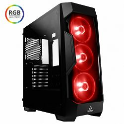 Kućište ANTEC DF500 RGB, MIDI, mATX, crno, bez napajanja