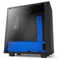Kućište NZXT S340 Elite, MIDI, ATX, window, crno-plavo, bez napajanja