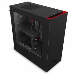 Kućište NZXT S340, MIDI, ATX, window, crno-crveno, bez napajanja