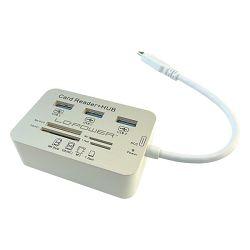 LC-Power 3x USB Hub, čitač memorijskih kartica