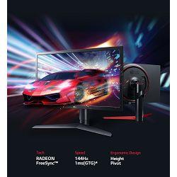Monitor LG 24GL650, IPS, FHD, 2xHDMI, DP, USB, 144Hz, 1ms