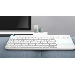 Tipkovnica Logitech Wireless Touch K400 Plus white