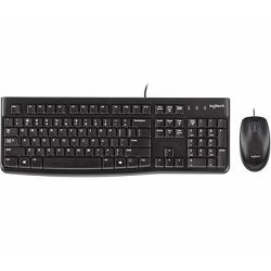 Logitech tipkovnica miš MK120, USB, HR