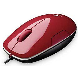 Miš LOGITECH M150, laserski, crveni