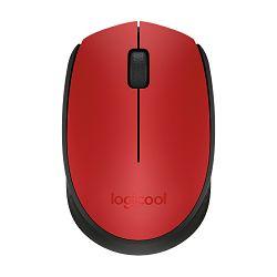 Miš Logitech bežični M171,crveni
