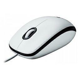 Logitech B100 optički miš, USB, bijeli (910-003360)