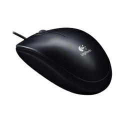 Logitech B100 optički miš, USB, crni (910-003357)