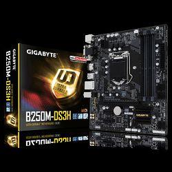 Matična ploča Gigabyte INTEL B250 (Socket LGA1151,2xDDR4,HDMI,DVI-D,D-Sub,1xPCIEX16/2xPCIEX1,USB3.0/USB2.0, 6xSATA III/3xSATA Express/1x M.2socket3,LAN) mATX retail