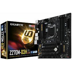 Matična ploča Gigabyte INTEL Z270 (Socket LGA1151,4xDDR4,HDMI,DVI-D,D-Sub,1xPCIEX16/2xPCI,USB3.0/USB2.0, 6xSATA III/3xSATA Express/1x M.2socket3,LAN) mATX retail