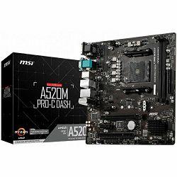 Matična ploča Matična ploča MSI A520M PRO-C Dash, AM4, DDR4, U3,mATX