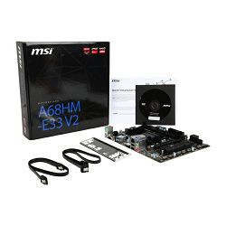 Matična ploča MSI AMD A68HM-E33 V2 (SFM2+,DDR3,SATA III,RAID,USB3.0/USB2.0,GLAN,VGA,HDMI) mATX Retail