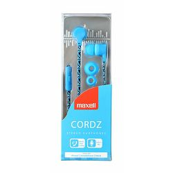 Maxell Cordz slušalice, mikrofon, plave
