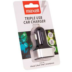 Trostruki USB auto punjač