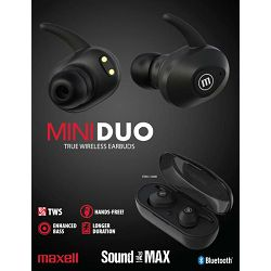 Bežične slušalice Maxell TWS Mini Duo crne
