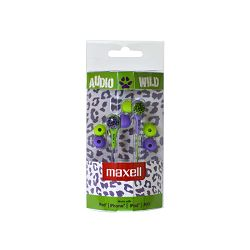 Maxell Wild Buds slušalice, zelene/ljubičaste