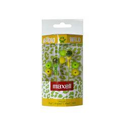 Maxell Wild Buds slušalice, zelene/žute