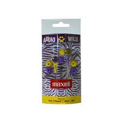 Maxell Wild Buds slušalice, ljubičaste/žute