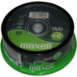 Maxell DVD+R 16x, 4.7GB 25 kom spindle