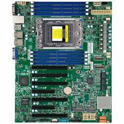 Supermicro mainboard server MBD-H12SSL-I-O, 3 years warranty, ATX. 8 DIMM slots, 8 SATA3, 2 M.2, 8 SATA3 or 2 NVMe via single SlimSAS x8, 2 Gigabit Ethernet LAN Ports, ASPEED AST2500 BMC graphics, 7 P