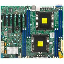 Supermicro Motherboard MBD-X11DPL-I 2xLGA 3647, Intel C621, 8xDDR4, 2x1GbE LAN, 10xSATA3 (6Gbps) RAID 0,1,5,10, 4xUSB 2.0 + 3xUSB 3.0, 1xVGA, 1xCOM, up to 7 PCI-E slots, ATX, Ret, 3 years warranty